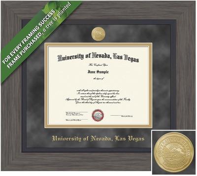 Framing Success 8.5 x 11 Greystone Gold Medallion Bachelors, Masters Diploma Frame