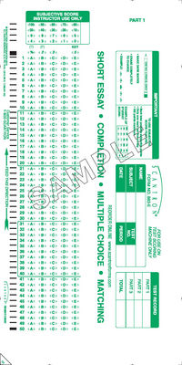 Scantron Form 883  E