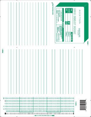 Scantron Form 886  E