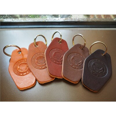 43rd Seal Leather Keychain