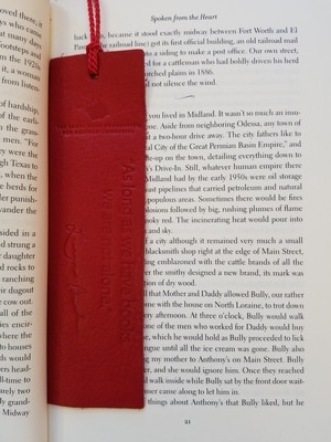 Mrs. Bush's Leather Bookmark