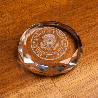 Bush Center Paperweight