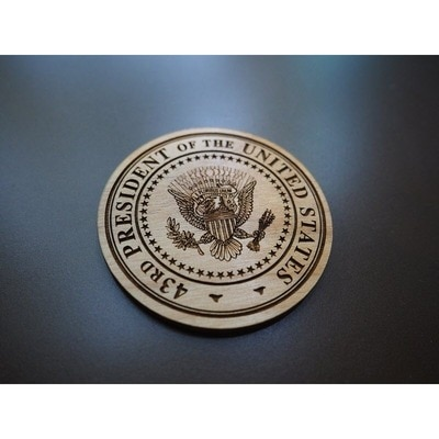 43rd Seal Wooden Magnet