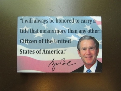 President Bush's Quote Magnet