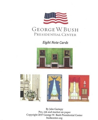 White House Decor Notecards