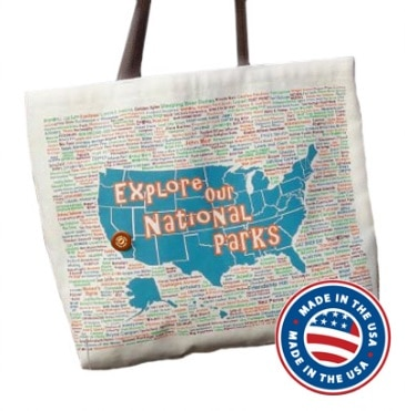 National Parks Canvas Tote