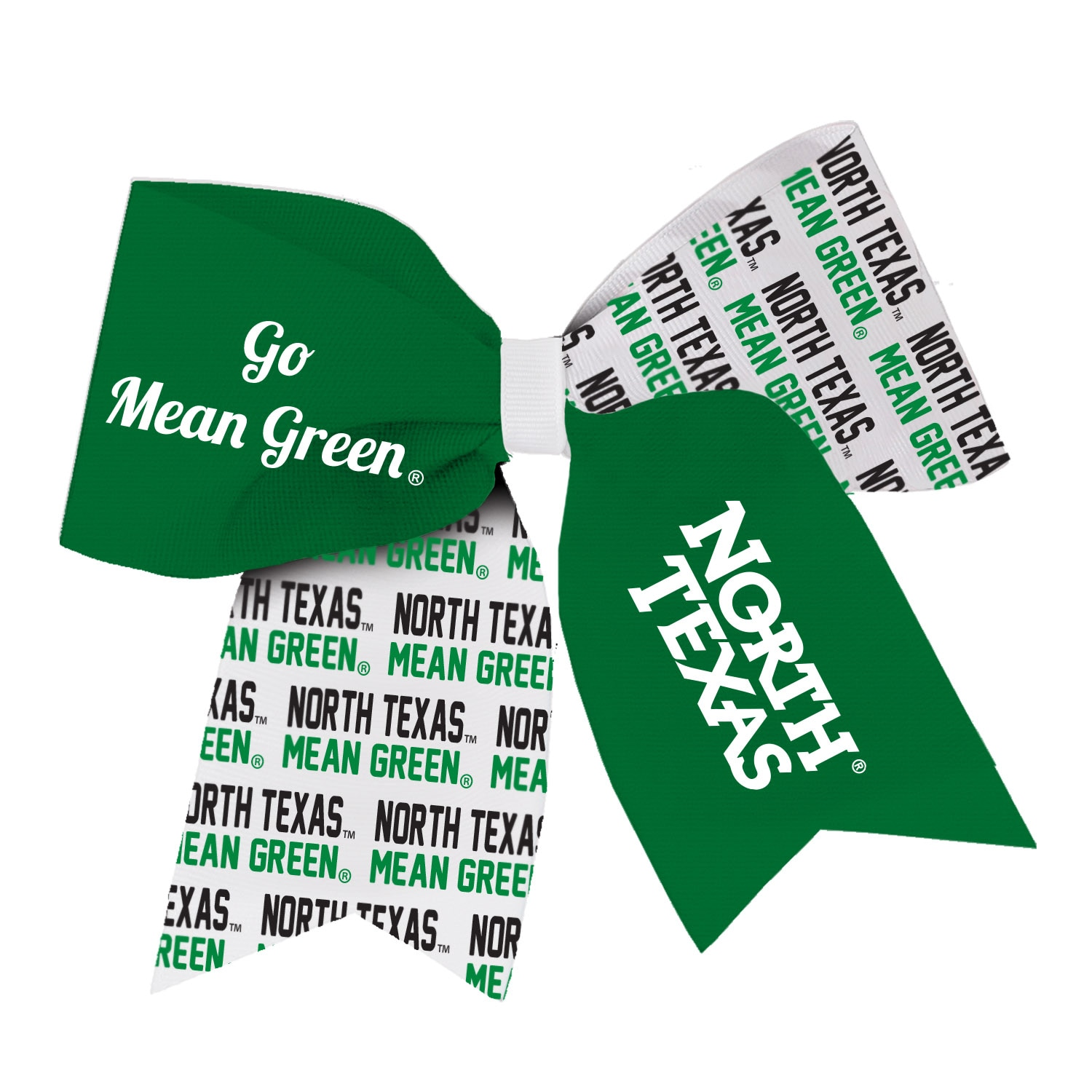 University of North Texas Spirit Cheer Gear Ribbon Barrette
