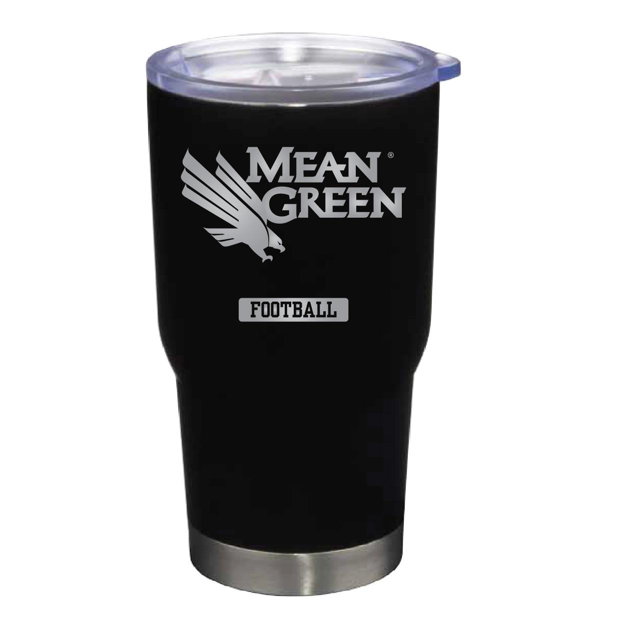 University of North Texas 22 oz Stainless Travel Mug FOOTBALL