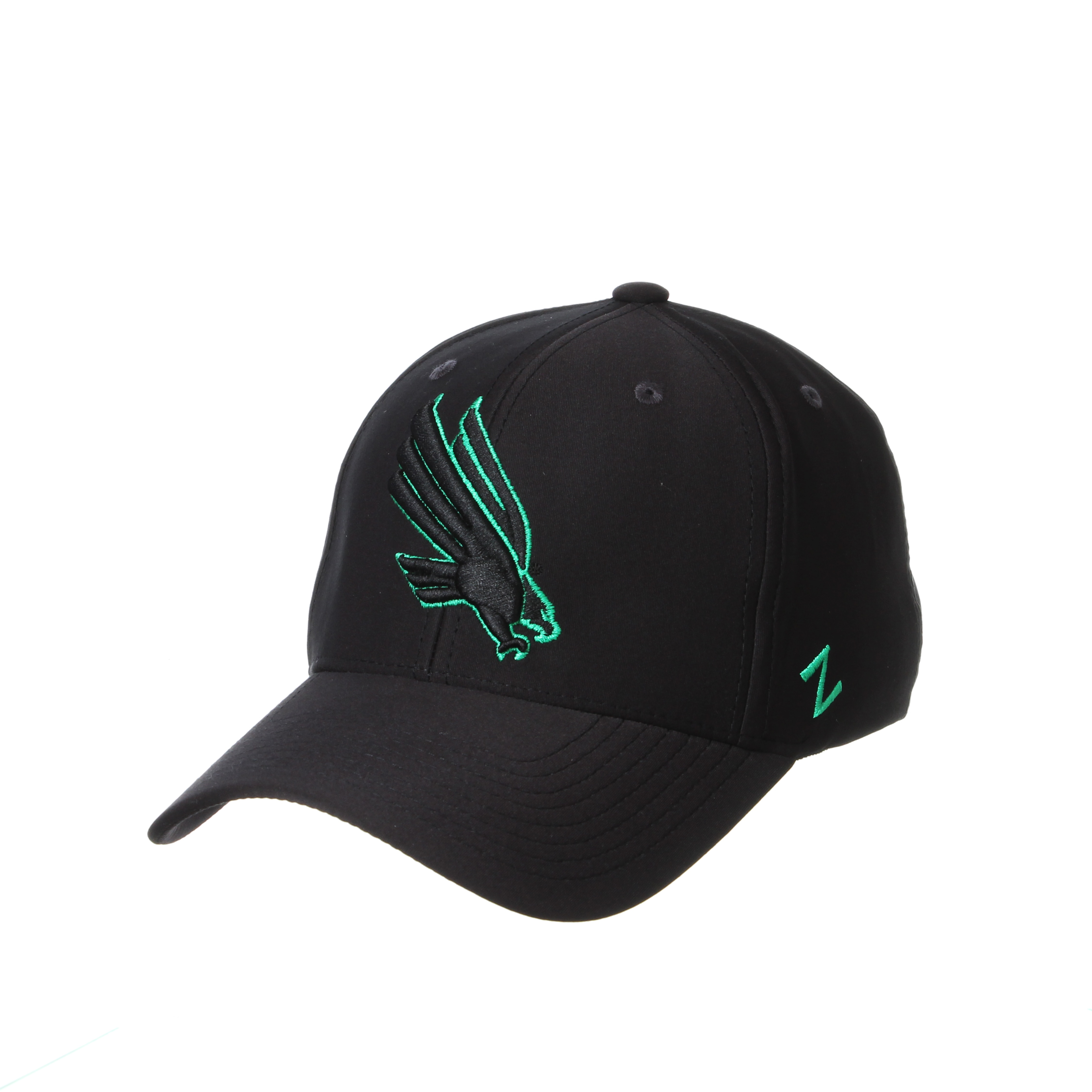 University of North Texas Zephyr Phoenix Structured Curved Bill Stretch Fit Cap Hat