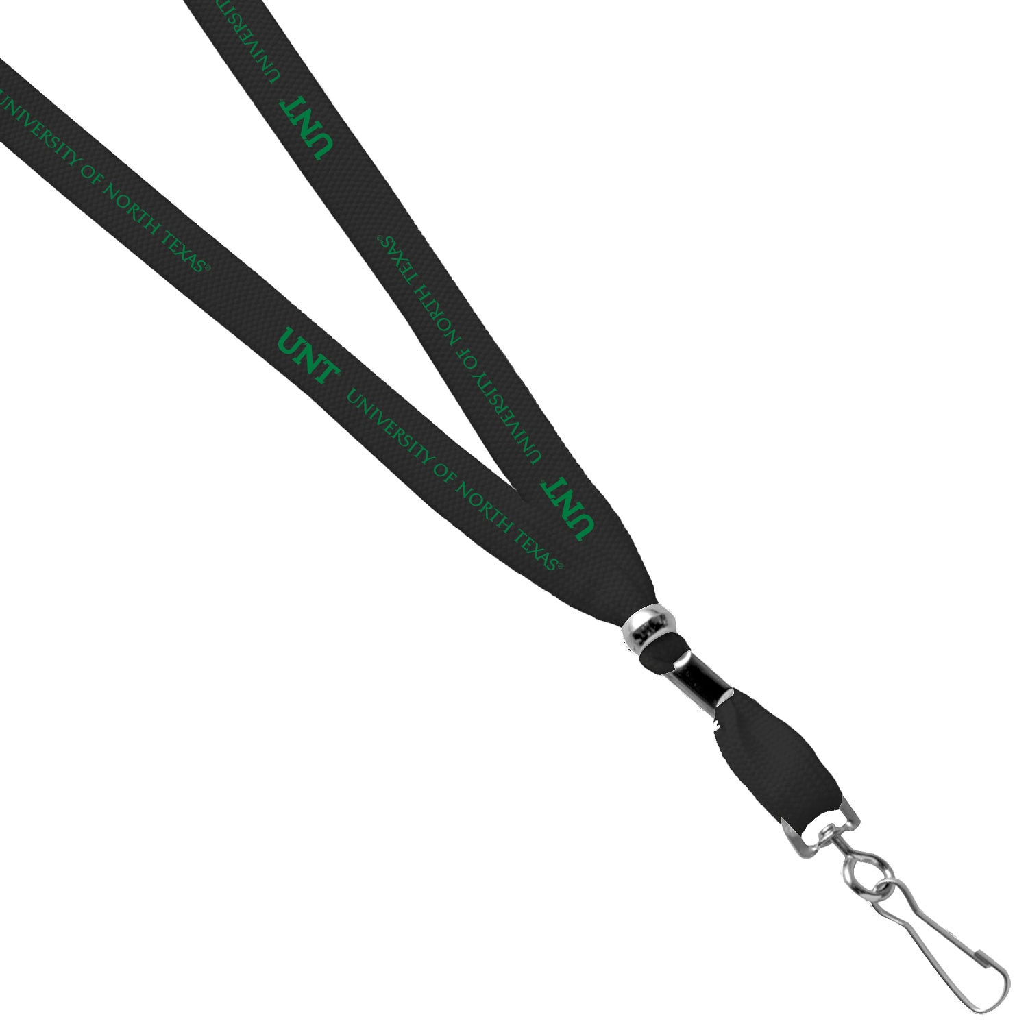 University of North Texas Printed Lanyard with Hook