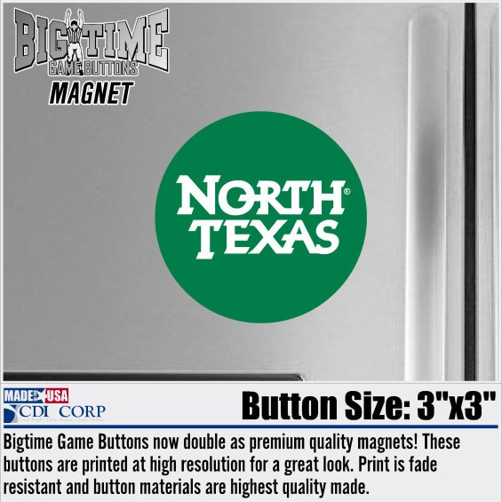 University of North Texas Color Shock Magnet Button
