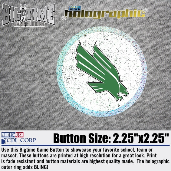 University of North Texas Color Shock Bigtime Game Button