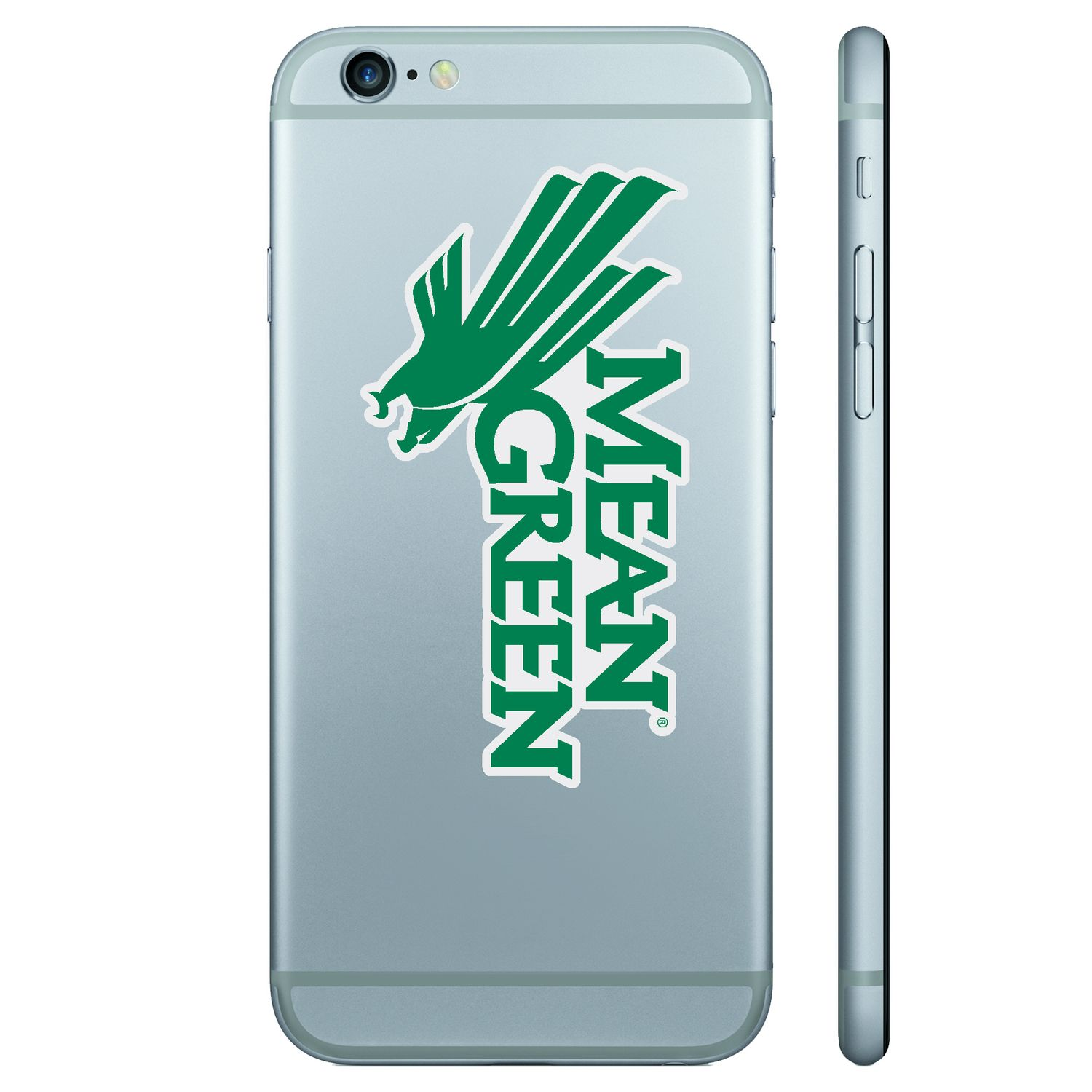 University of North Texas Color Shock Removable Decal