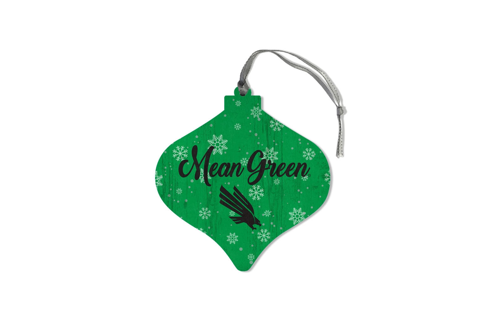 University of North Texas Retro Shape Wood Ornament