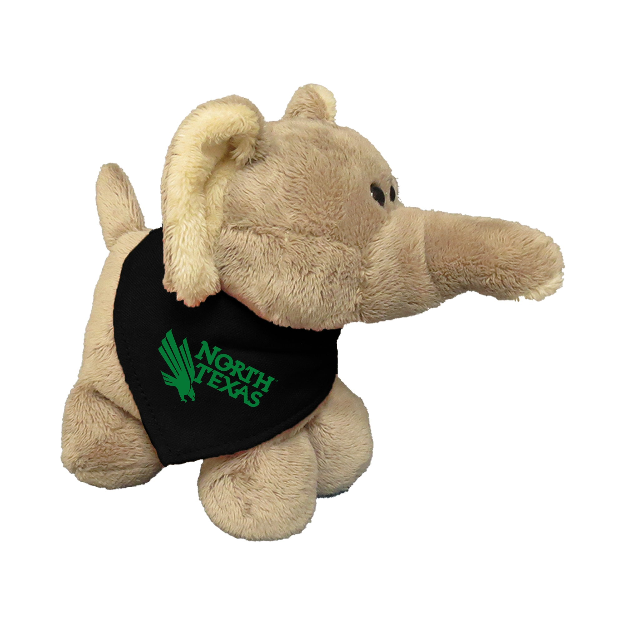 University of North Texas 6in Plush Elephant Short Stack with Bandana