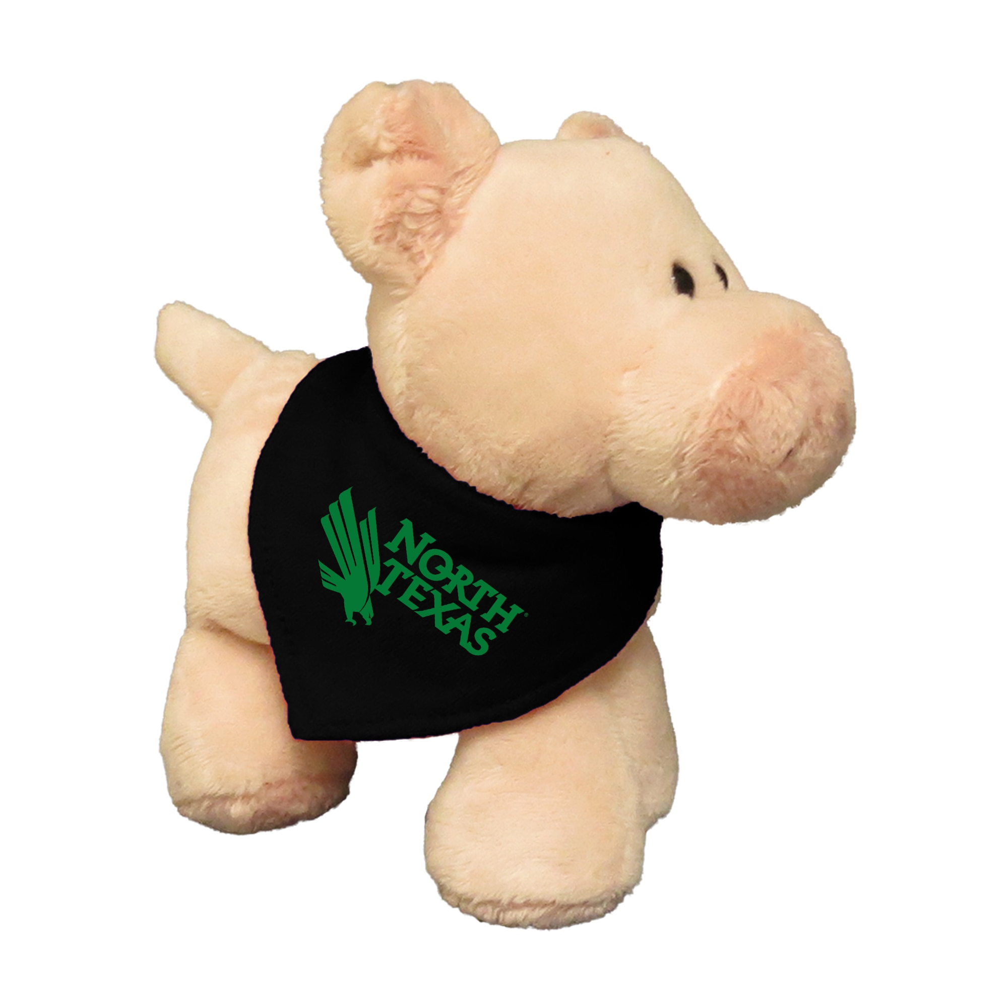 University of North Texas 6in Plush Pig Short Stack with Bandana
