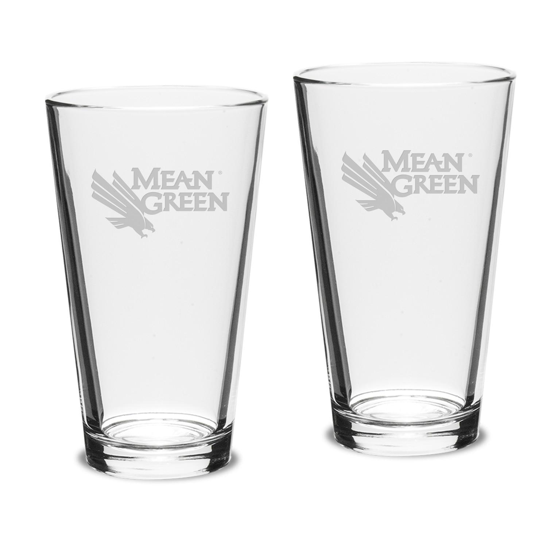 University of North Texas 2pk Pub Glass