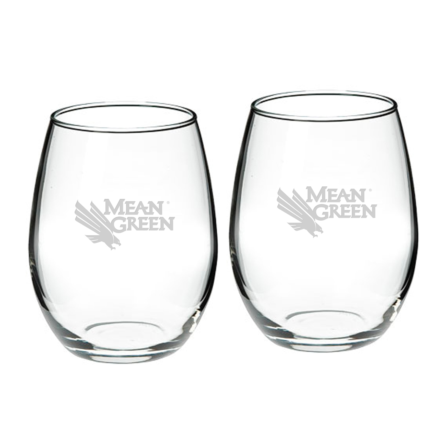University of North Texas Stemless Wine Glass 2-Pack