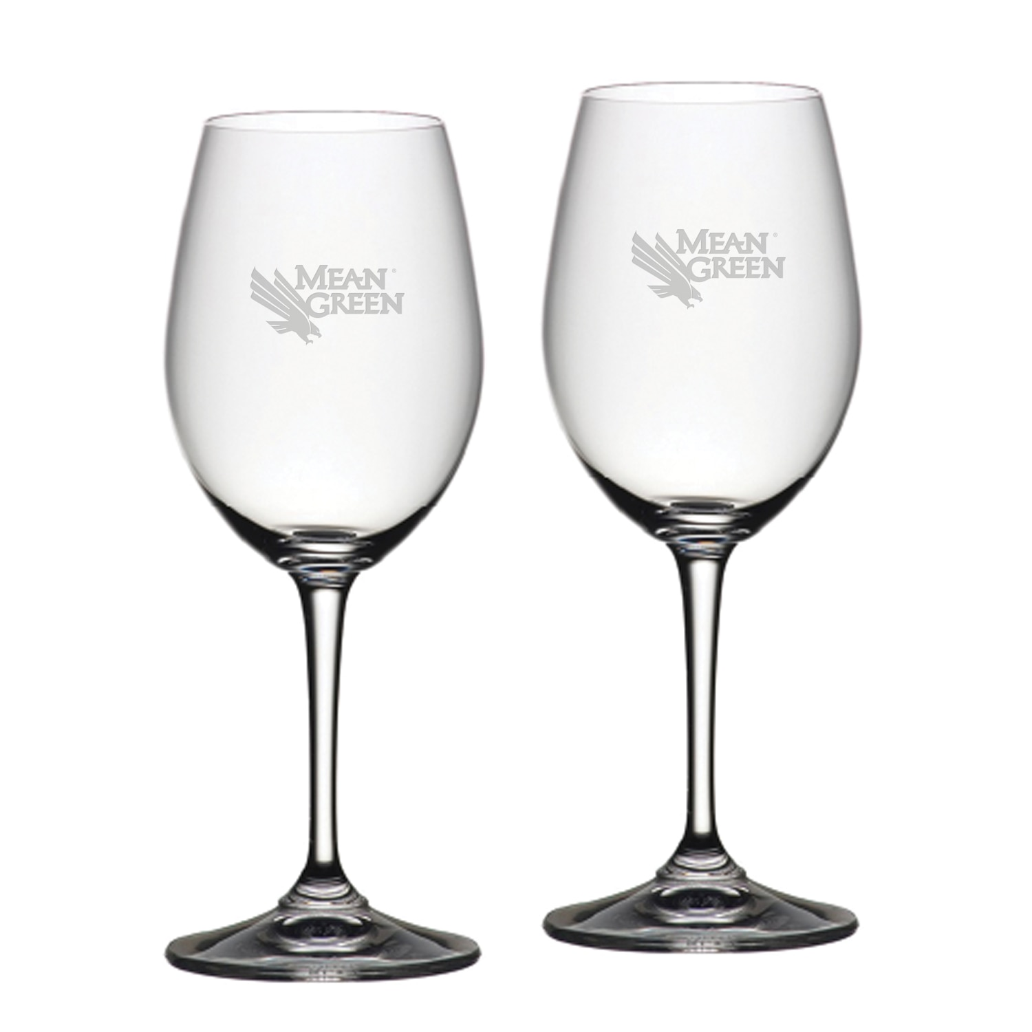University of North Texas Riedel Red Wine Glass 2pk