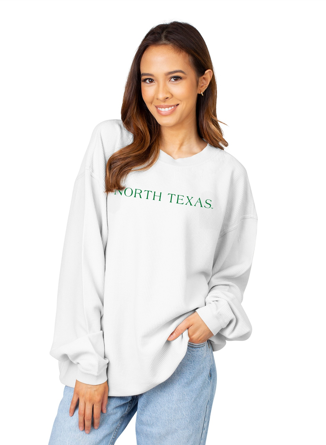 University of North Texas Women's Corded Pullover Sweatshirt