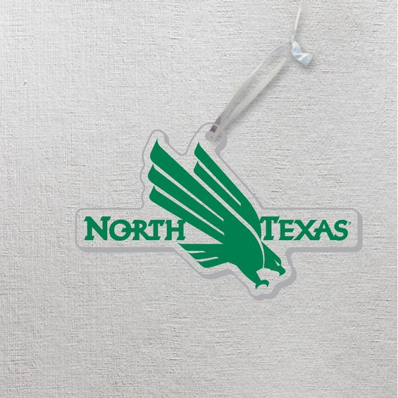 University of North Texas Clear Acrylic Ornamnet