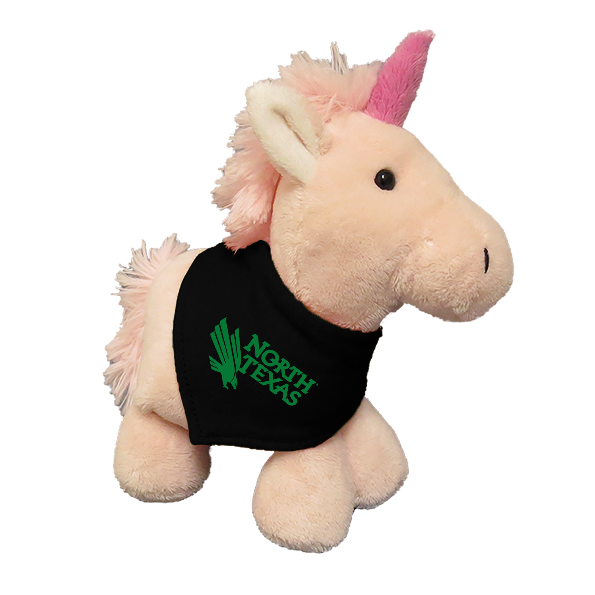 University of North Texas 6in Plush Unicorn Short Stack with Bandana