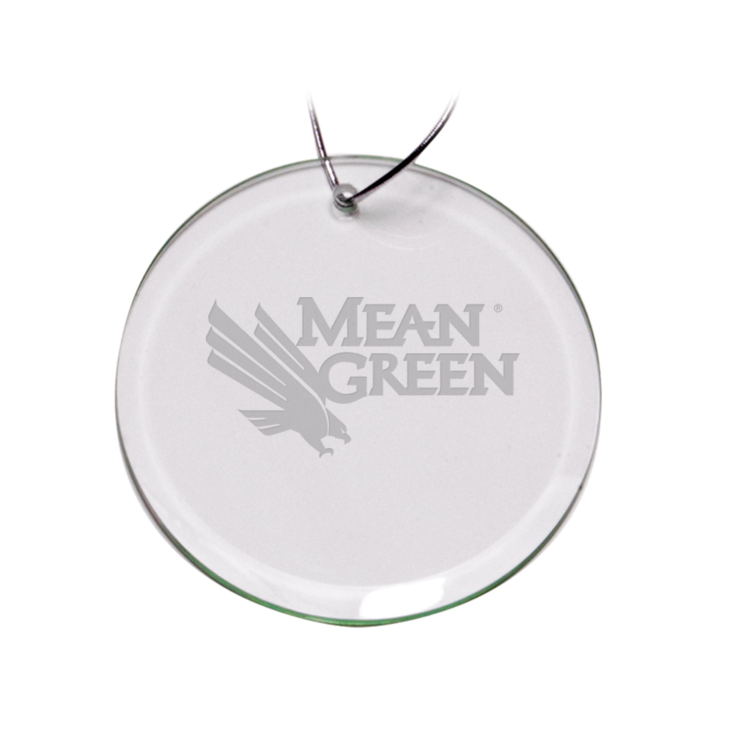 University of North Texas Round Ornament