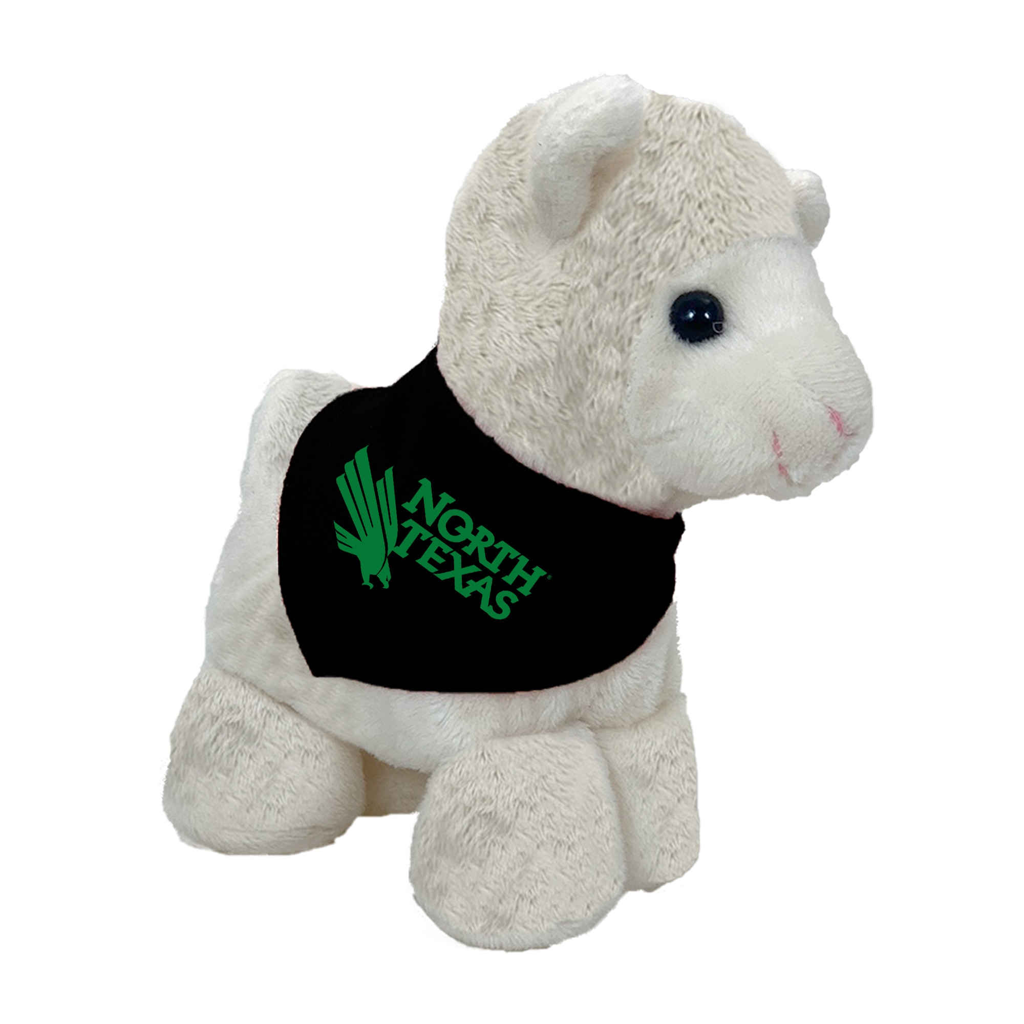 University of North Texas 6in Plush Llama Short Stack with Bandana