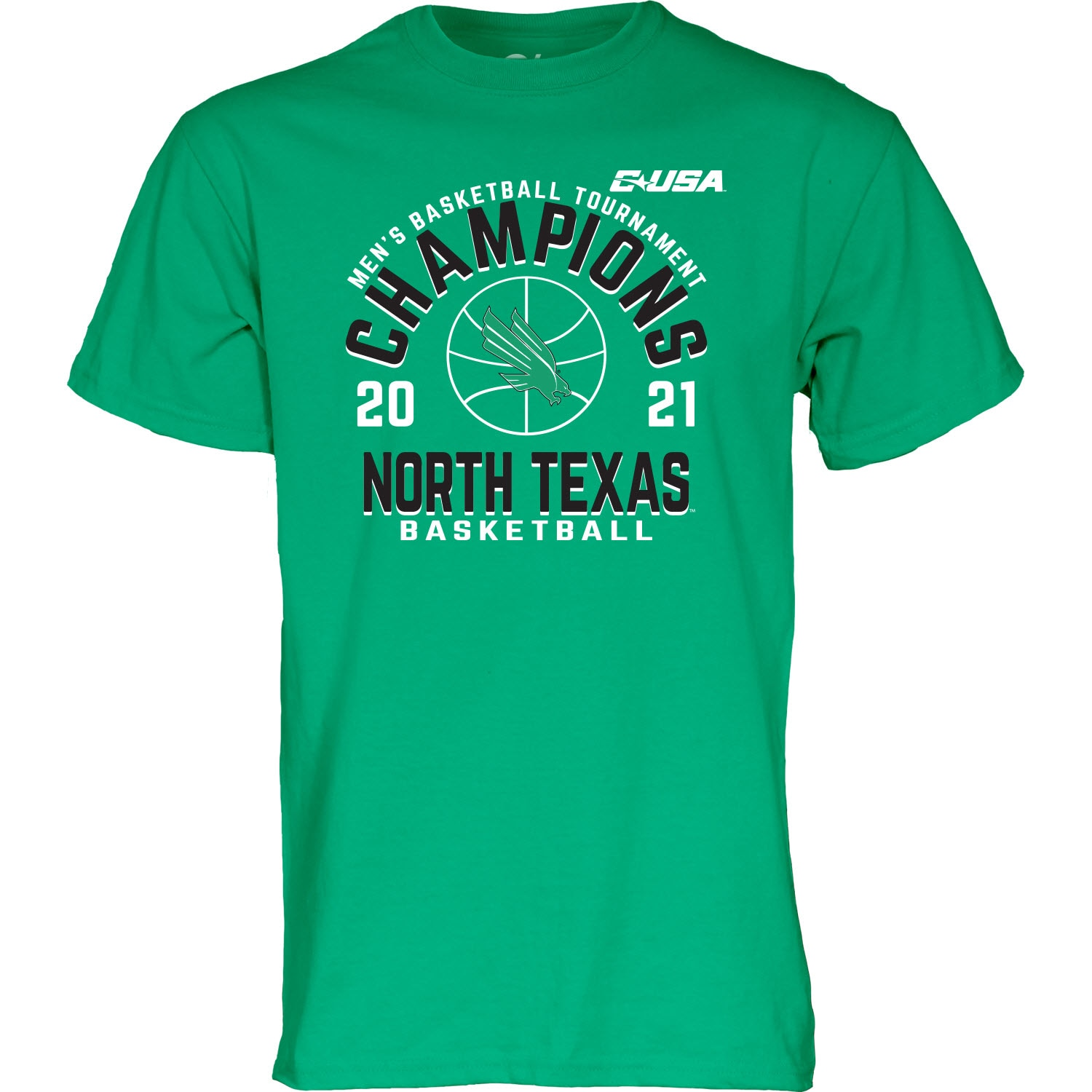 University of North Texas Blue84 2021 Basketball Conference Champs T Shirt