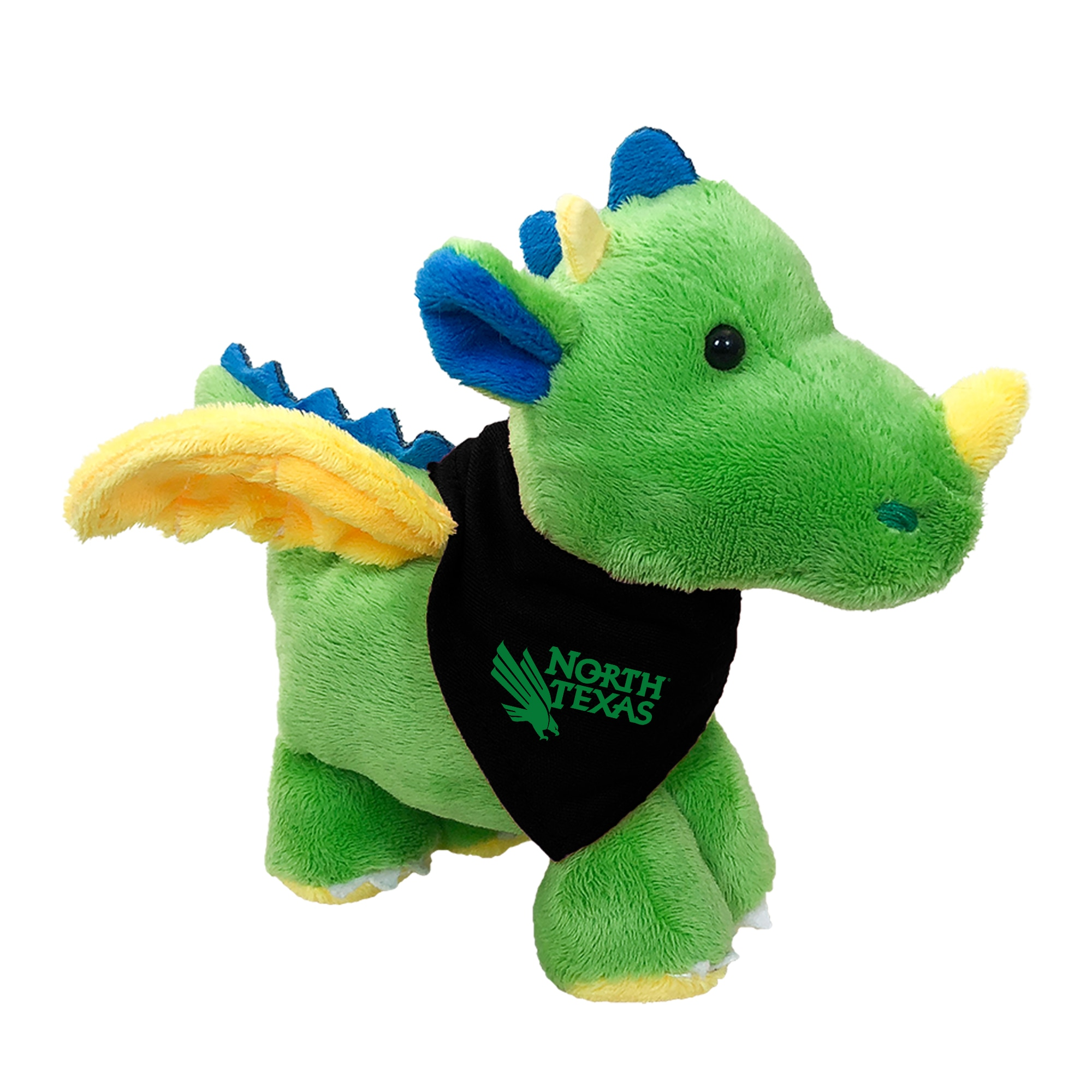 University of North Texas 6in Plush Dragon Short Stack with Bandana