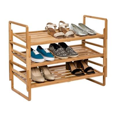3-Tier Bamboo Nesting Shoe Rack