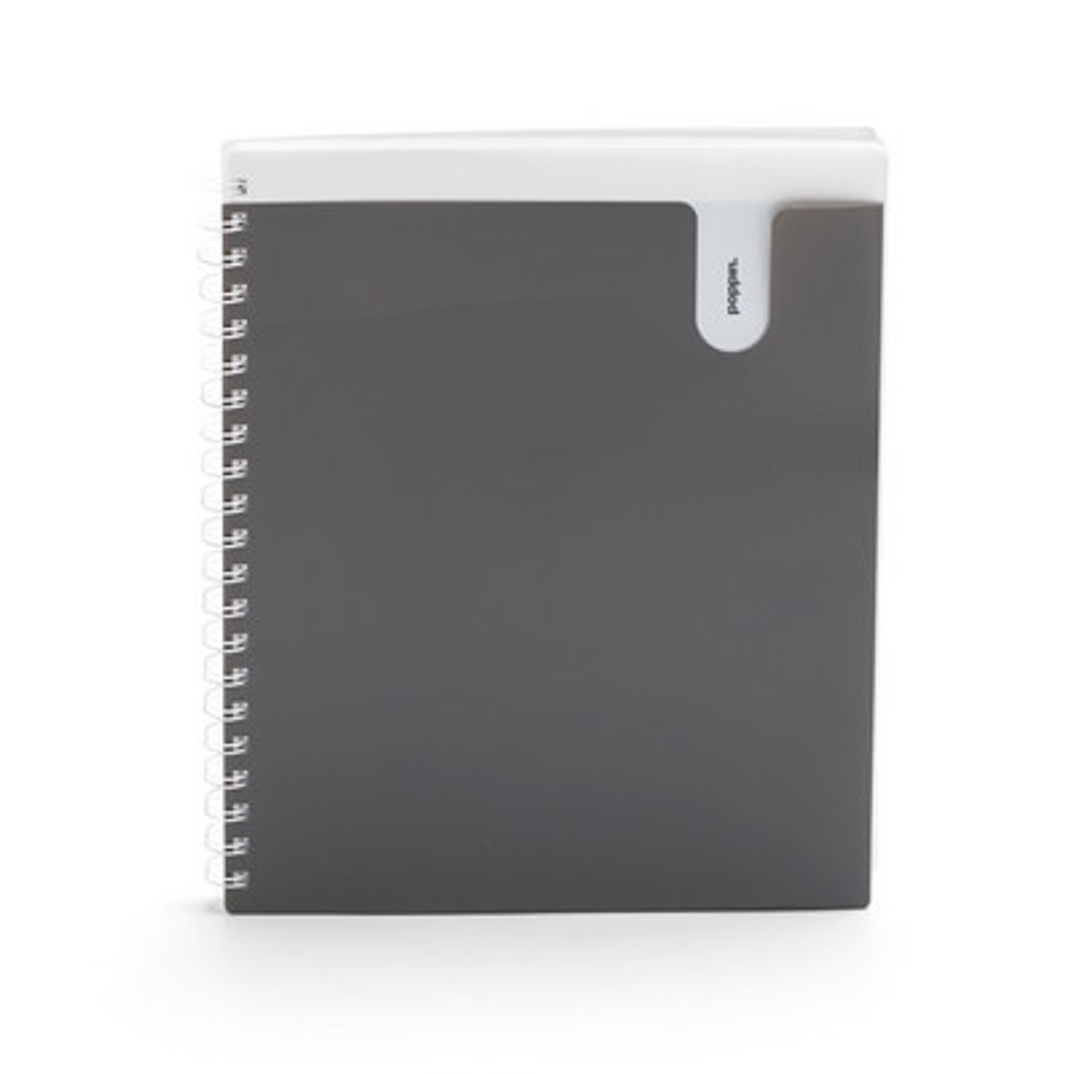 Poppin Dark Gray 1Subject Pocket Spiral Notebook