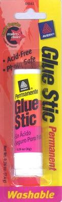 Avery Glue Stic Washable Nontoxic Permanent Adhesive 0.26 oz. 1 Stick