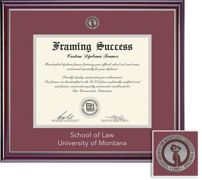 Framing Success 12 x 16 Jefferson Silver Medallion Law Diploma Frame
