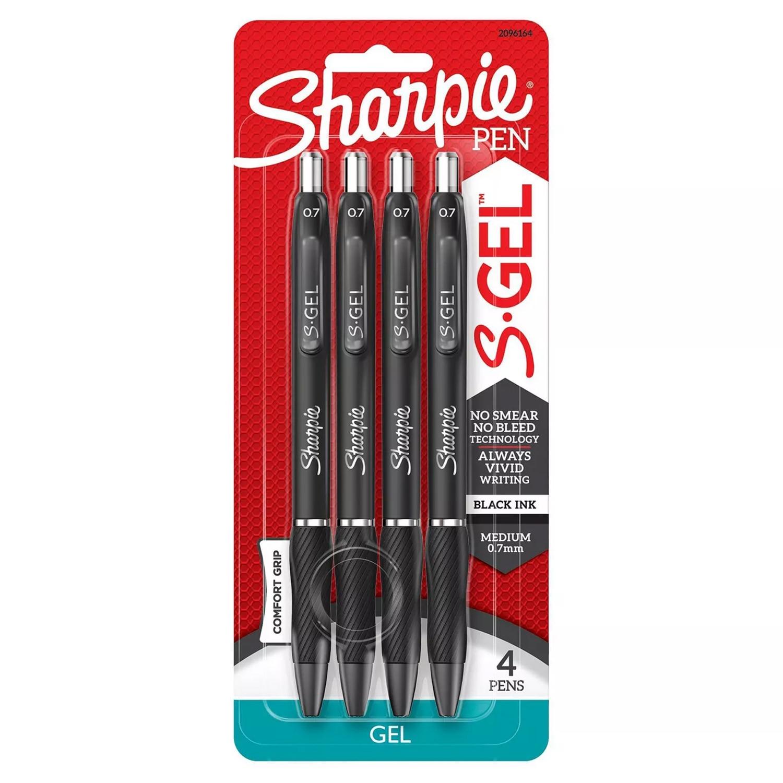 Sharpie S-Gel 0.7mm 4Ct Black