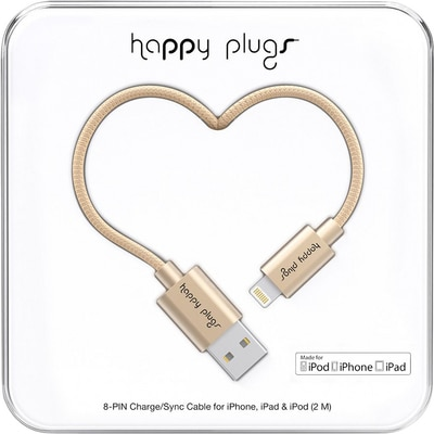 Happy Plugs Lightning Cable Matte Gold
