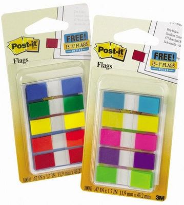 Paper-Post It Flags Assorted