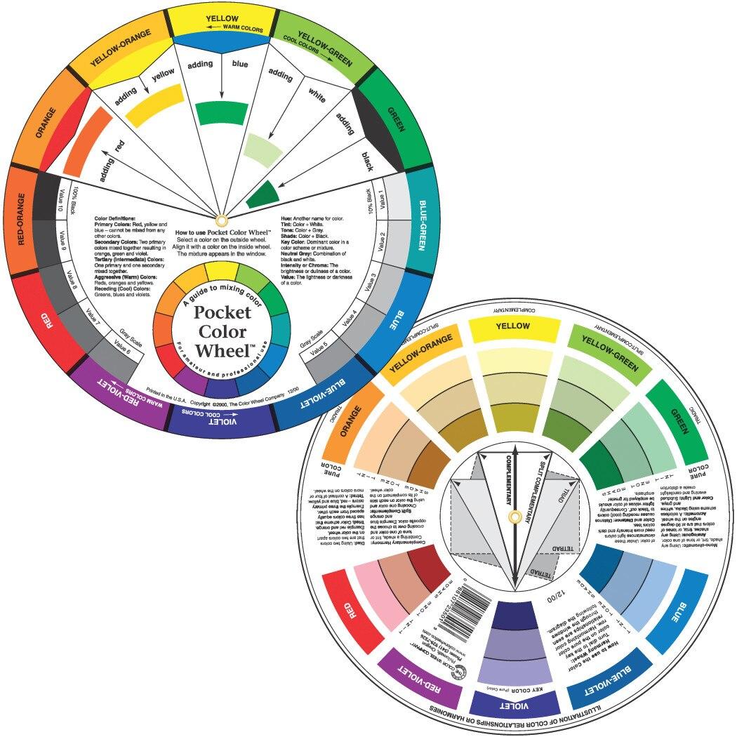 Color Wheel Co Pocket Color Wheel, English
