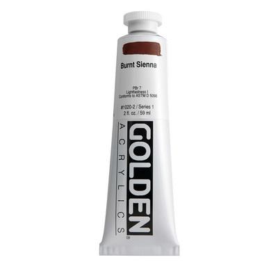 Golden(R)Heavy Body Acrylics, 2oz., Burnt Sienna