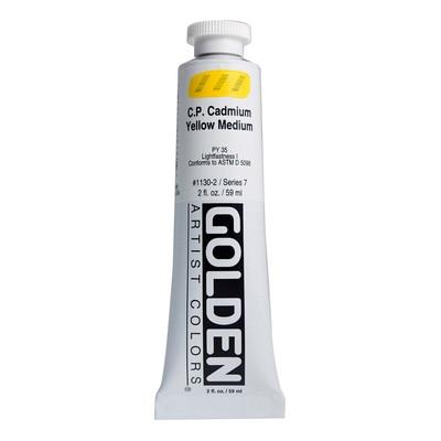 Golden(R)Heavy Body Acrylics, 2oz., C P Cadmium Yellow Medium