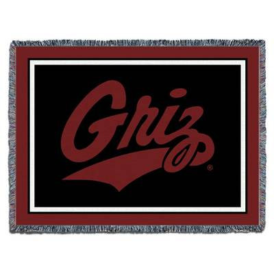 """University of Montana 48""""x69"""" Pure Country Afgham Blanket"""