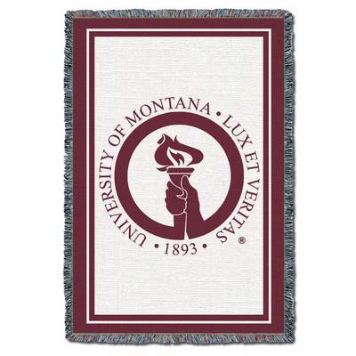 """University of Montana 48""""x69"""" Pure Country Afghan Layer Throw"""