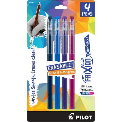 Pilot FriXion ColorSticks Erasable Pen 4Pack Assorted