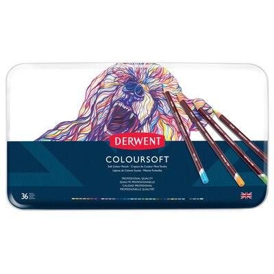 Derwent Coloursoft Pencil Set, 36-Pencil Tin Set