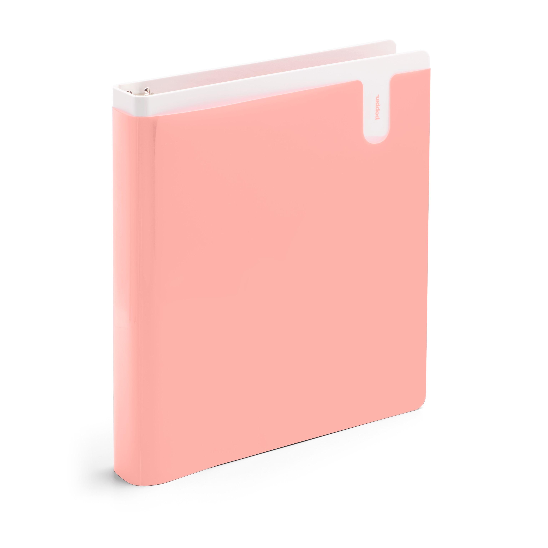 Poppin Blush 1 Pocket Binder