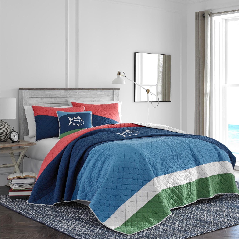 Southern Tide Sailor Stripe King Multi Quilt