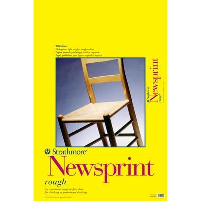 "Strathmore Newsprint Paper Pad, 300 Series, Rough, 24"" x 36"""