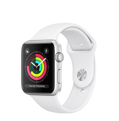 Apple Watch S3 38 mm Silver AL White Sports Band