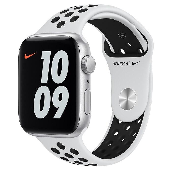 Apple Watch Nike SE 44 mm Silver AL Platinum Black SB
