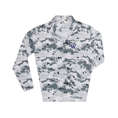 Washington Huskies Camo 1/2 Zip
